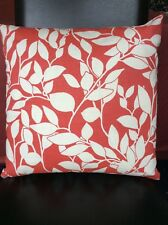 """New 16""""x16"""" MULTIYORK country cottage red leaf cushion cover zip fastening"""