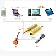 2PCS Stereo Jack Adaptor Premium 3.5mm Male to 6.5mm Female Audio Microphone