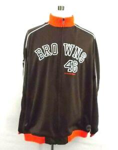 Reebok NFL Gridiron Classic Men XL Cleveland Browns Zip Jacket Brownie Elf 1946