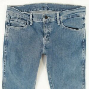 Womens Levis 17839 LINE 8 REVOLVER Stretch Skinny Blue Jeans W30 L32 UK Size 10