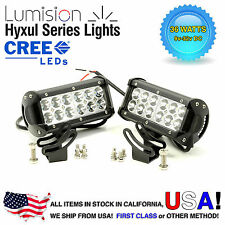 "Lumision CREE 36W 7"" PAIR Spot High Intensity LED Light Bar Truck RV SUV boat"