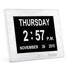 Digital Silver Desk, Mantel & Carriage Clocks