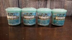 Yankee Candle Ocean Water Votive Samplers Candle Wrapped 1.75 oz Unused Scent x4