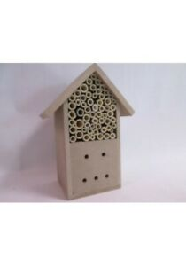 Insect Wooden Hotel Natural House Bee and Insects Nesting Box **UK FAST POST**