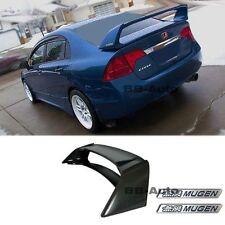 For 06-11 Civic Mugen RR Style Spoiler 4Dr Si CSX JDM ABS Plastic + BLACK EMBLEM