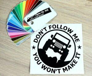 Funny Off Road SUV JEEP Car Sticker Vinyl Decal Adhesive Window Bumper BLACK