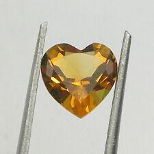 Heart Shape Orange Color Natural Citrine Loose Gemstone, 7x7mm, 8x8mm Shape