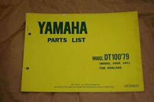 1979 Yamaha DT 100 Parts Catalogue