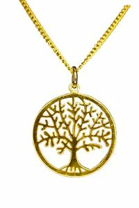 ANTOMUS®  18K GOLD VERMEIL 925 SILVER TREE OF LIFE YGGDRASIL NECKLACE COMBO