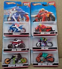 HOT WHEELS SPEED CYCLES SIDEDRAFT FAST FUSE GOING TURBO NIGHT STORM +  *NEW*