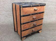Fatto a mano vintage indiano legno e metallo ciondolo cassetti-PORTAGIOIE-Storage
