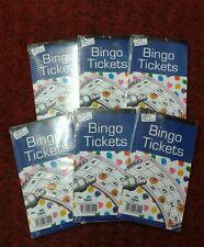 Bingo Game Single Ticket Card Flyer Pad 6  x Books 100 Sheet Security Coded Fun
