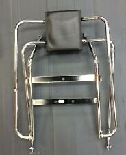 Rear back rest flip over flip flop chrome for Vespa PX & LML Star by Cuppini