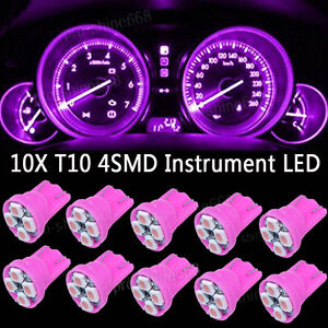 10x Pink LED 194 Wedge Speedo Gauge Instrument Panel Light Bulb For Oldsmobile