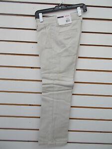 Boys IZOD $32 Uniform/Casual Cement Flat Front Pants Size 8 - 18