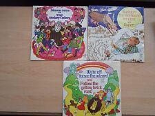 x3 Kiddies sing-along vinyl singles