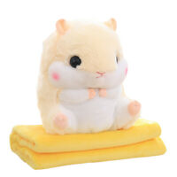MagiDealMagiDeal Throw Pillow Blanket Hamster Shape Bolster Kids Toy Xmas Gift