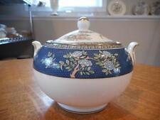 Wedgwood Blue Siam bone china bute shape sugar box and lid - EXCELLENT!!