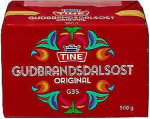 Tine Organic Brown Mild Caramel Cheese Made in Norway Gudbrandsdalsost 500g
