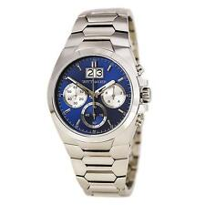 Wittnauer Men's Chronograph Quartz Blue Dial 42mm Silver-Tone Watch WN3048