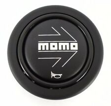 NEW Genuine Momo car steering wheel horn push button. Black with silver arrow.