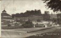 Chester WV Rock Springs Park Merry-Go-Round Figure Eight c1910 Postcard