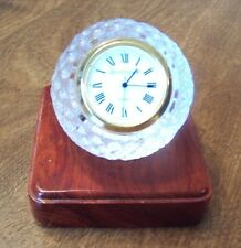 New Crystal Golf Ball Clock on Wood Base