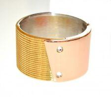PULSERA mujer oro rosa plata dorado strass brazalete rígido esclavo браслет E80