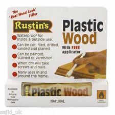 Rustins Plastic Wood Filler Tube with Free Applicator - NATURAL - FREE P&P