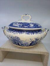 Antique Casserole/cover Villeroy/Boch Blue /white Burgenland Excellent condition