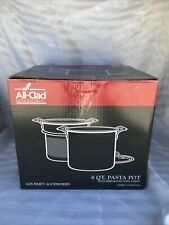 New ALL-CLAD 8Qt Stainless Steel Pasta Pot W/ Insert & Lid Professional