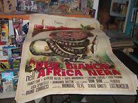 Dos Blancos en El África Negra Manifesto 2F Original 1970
