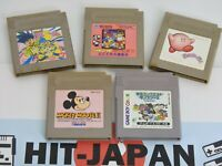 Lot of 5 Game Boy and Color Cartridge Only Ref 2340 Nintendo JAPAN Game gb