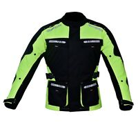 Motorcycle Motorbike Jacket Waterproof Textile CE Armoured Reflectors Hiviz