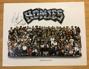 2003 original HOMIES poster SIGNED by DAVID GONZALES low rider magazine show