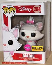 FUNKO POP DISNEY 2017 THE ARISTOCATS (FLOCKED) MARIE #294 HOT TOPIC EXC In Stock