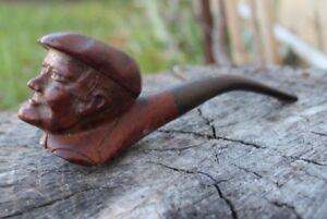 pipe sculptée signée sina  tète de personnage