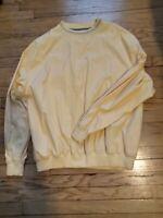 "NICE! Greg Norman Men's Golf ""Shark"" Pullover Windbreaker Jacket Yellow Size XXL"