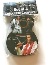 Elvis Presley Collectable Coasters-Set of 4- guitar shaped--pictures of Elvis