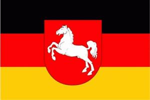Fahne Flagge Niedersachsen Wappen 90x150 cm Hissfahne mit Ösen Flaggen
