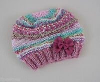 Baby Knitting Pattern 56 TO KNIT Beginners Baby Girls Beanie Hat in Four Sizes