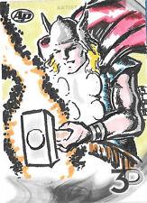 Thor 2015 Upper Deck Marvel 3D Artist Proof Sketch Card