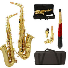 New Hot Sale Pro Paint Gold Alto Eb Golden Saxophone Sax w/ Case & Accessories