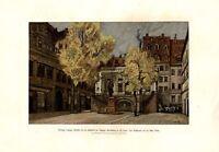 Leipzig Naschmarkt XL Druck 1904 von Paul Horst Schulze * Naundorf Alte Börse