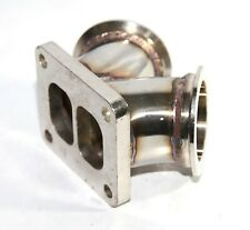 """Turbo Y Elbow T4 Twin Scroll to Dual 2.5"""" V-band Flange Stainless Steel Adapter"""
