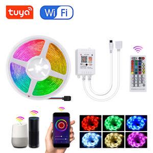 10M 5M 5050 RGB Smart WiFi LED-Lichtleiste Tuya APP 40 Key Music Control Kit