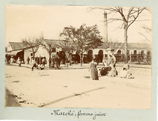 Algérie, Batna, le marché, femmes juives, costumes traditionnels   Vintage citra