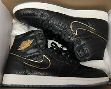 Jordan Retro 1 High OG Black Metallic Gold LA City Of Flight All Star Sz 10.5