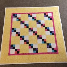 Handmade Baby or Toddler Quilt-Yellow Daisy & Jewel Tones