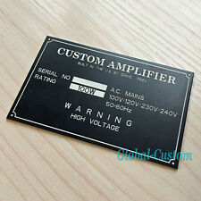 Custom Metal Plate Anodized Aluminium Name Plaque (Do Not Buy Before Enquiry )